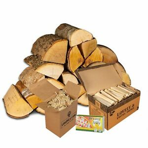 Fire Pit Starter Kit. Kiln Dried Hardwood, Kindling, Firelighters and Matches.