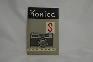Konica S Rangefidner camera Instruction Booklet Manual Guide 1960 9111014