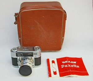 BRAUN PAXETTE SUPER II BL 35mm FILM CAMERA WITH OUTFIT CASE & INSTRUCTIONS