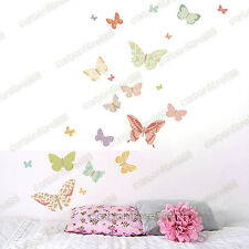 25 Flores Mariposas pegatinas de pared arte calcomanía Hogar Niños Decoración extraíble De Vinilo