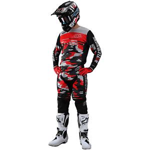 Troy Lee Designs Gear Combo Set TLD MX Motocross GP Pants Jersey CAMO ROCKET RED