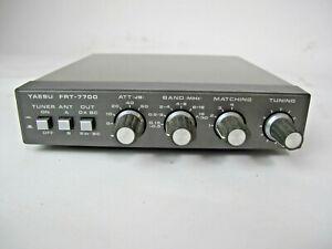 Yaesu FRT-7700 antenna tuner for the FRG-7700 shortwave receiver - working