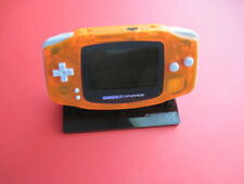 Nintendo Game Boy Advance Orange Handheld System AGS-101 Backlit Modded Bright