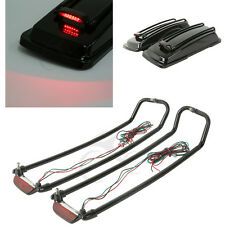 Saddlebags Lid Rack Top Rail Guard+ Light For Harley Ultra Electra Glide 1993-13