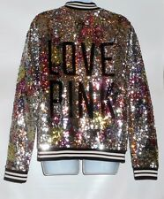 Victoria's Secret Pink Limited Edition 2013 Bling Sequin Varsity Jacket S NWT