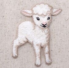 White Lamb - Little Baby Sheep - Animals - Iron on Applique/Embroidered Patch