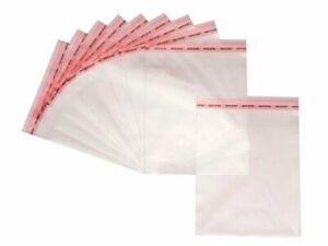 100 Flachbeutel transparent 22,5x30 cm selbstklebend Tüten Klar Peel  Seal