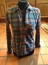 Holister Blue Lumberjack Check Shirt Size S