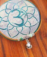Anklet Gypsy Ocean Beads Shells Pearl Suede Leather Tie Up Choker Bracelet ♡