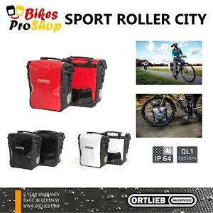 ORTLIEB Sport Roller CITY (Pair) - Bike Panniers Bags WATERPROOF GERMANY 2021