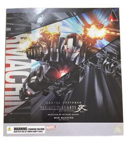 Square Enix Play Arts Kai Marvel War Machine Anime Variant Action Figure New MIB