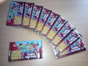 Lot Of 10X High School Musical 2 Disney Topps Card Packs Booster