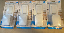 Lot Of (4) GE Wireless Remote with Lamp Dimmer Lighting Control Indoor White NEW