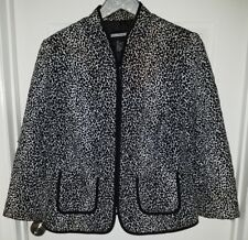 Requirements Black & White Animal Print Jacket size L