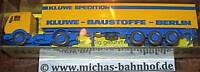 Kluwe Baustoffe Berlin Werbemodell WIKING 1:87