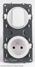 Interrupteur + prise de courant 2P+T 16A  67001+67111+68001+68111+80252
