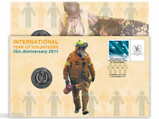 2011 Celebrate 10 Years International of Volunteers 20c Coin - PNC Stamp & Cover