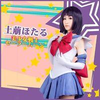 Sailor Moon Costume Tomoe Hotaru Sailor Saturn Cosplay Costume Halloween Costume