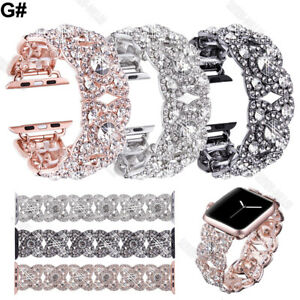 Bling Diamond Watch Band Crystal Strap For Apple Watch iWatch Series SE6/5/4/3/2