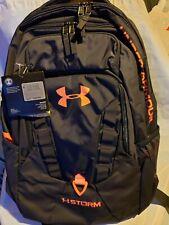 "Under Armour Storm UA RECRUIT Backpack, 15"" Laptop - Black/Orange, OS ( 33L )"