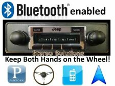 Bluetooth Enabled '78-86 Jeep CJ & Scrambler 300w AM FM Stereo Radio iPod, USB