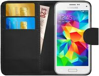 G-Shield® Luxury Leather Flip Wallet Slim Case Cover For Samsung Galaxy S5 Mini