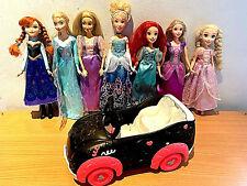 Paquete De Muñecas Barbie Princesas De Disney Hasbro/Mattel/Disney Store + coche