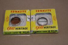 Ednalite Gold Heritage Color Filters series IV 4 Vintage 1954 ChromeHaze ChromA