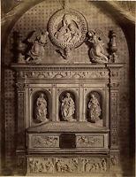 Italia Sant'Agostino Da San Gimignano Albumina Vintage Albume D'Uovo Ca 1880