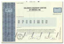 Children's Discovery Centers of America, Inc. Specimen Stock Certificate