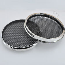 """2pcs 3"""" inch Car Audio Speaker Cover Decorative Circle with Metal Mesh Grille"""