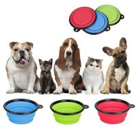 Portable Collapsible Pet Cat Feeding Bowl Travel Dog Silicone Water Dish Camping