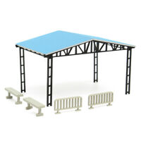 Model Layout Building Parking Shed With 2 Fences 2 Panche Ho Scala 1:87 Kit