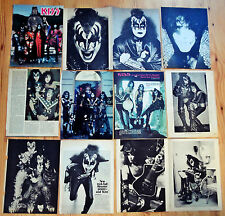 KISS Misc. 70's Magazine Clippings Pages Gene Simmons Paul Stanley Ace Frehley