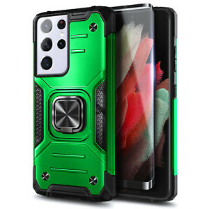 Case For Samsung Galaxy S21/S21+/S21 Ultra 5G Full Body Built-in Kickstand Cover
