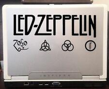 "Led Zeppelin British Rock Band Album Logo car truck laptop decal sticker 8""Black"