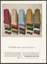 BURLINGTON Gold Cup socks - 1963 Vintage Print Ad