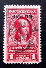 US-BOB-$1 Revenue Documentary 1946 issue-Used