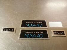 Vintage Realistic NOVA-40 Headphone Parts: Badge ID LEFT-RIGHT Tag Set Lot