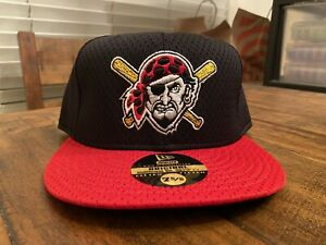 Pittsburgh Pirates Jolly Roger Black Red Batting practice New Era Fitted 7 5/8