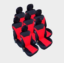 7x Sitze Auto Sitzbezug Sitzbezüge Schonbezüge Schonbezug Set Rot für Citroen VW