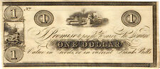 Scarce 18-- $1.00 Obsolete Currency - Kinderhook, New York (see text)  CU