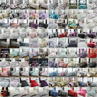 New Premium Quality Printed Duvet Quilt Cover Bedding Set Double Size All Colors