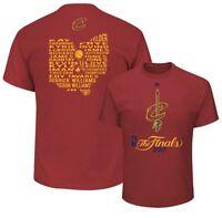 Cleveland Cavaliers NBA Mens Finals Roster Shirt Burgundy Big Sizes