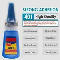 20g 401 Instant Adhesive Bottle Stronger Super Glue Multi-Purpose Clear Glue