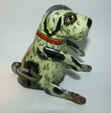 Antique Flipo the jumping dog Louis Marx and Co. Inc. NY Mechanical Tin Toy
