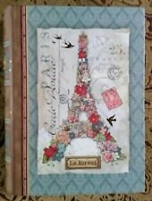 """NEW* Punch Studio 8 1/2"""" EIFFEL TOWER FLORAL Book Box Gold Foil Embellishments"""