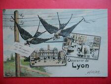 """LYON  :  """" Je suis la Messagère du Bonheur """"....VO.1909."""