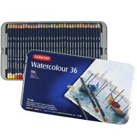 36 Colours! Derwent Watercolour Pencils in Tin Paint Art Adult Colouring Books