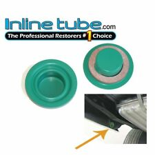 1973-77 A F Body Inner Rear Quarter Drop Extension Green Drain Plugs & Gasket